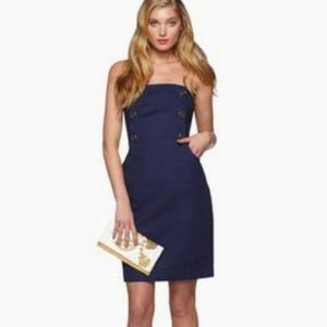 Strapless Lilly Navy Dress